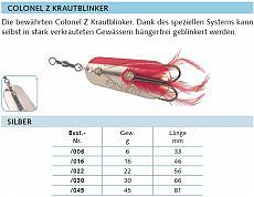 Balzer Colonel Z Krautblinker silber 30g