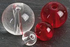 Iron Claw Round Glas Perlen ø 10mm Klar