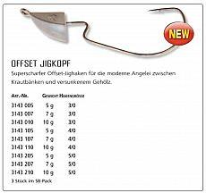 Quantum Offset Jigkopf  7g Haken 4/0