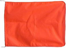 Schleppanglerflagge #Orange #35x50cm