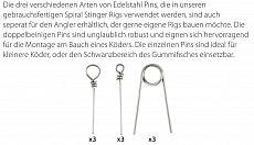 SPRO Softbait Pin Set 3 x 3 Stück