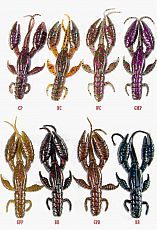 Grauvell Softlures Jinza Petty Craw #BR