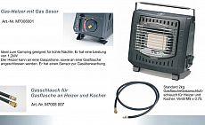 Zeltheizung Gas Heizer mit Sensor 1,2kW