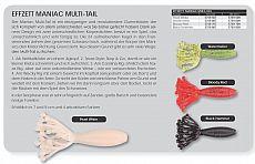 DAM EffZett FZ Maniac Multi Tail 7cm wm