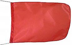 Schleppanglerflagge Rot, 35 x 50cm