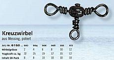 ZEBCO Kreuzwirbel Kreuz-T-Wirbel  8 17kg