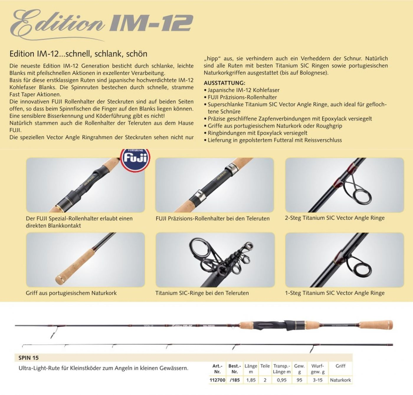 Balzer Edition IM 12 Spoon Rute