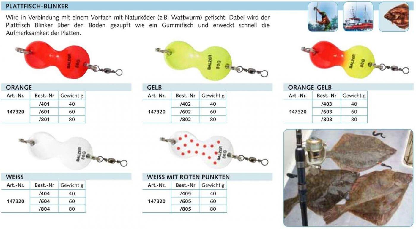 Balzer Plattfisch-Blinker Vorfach fluo
