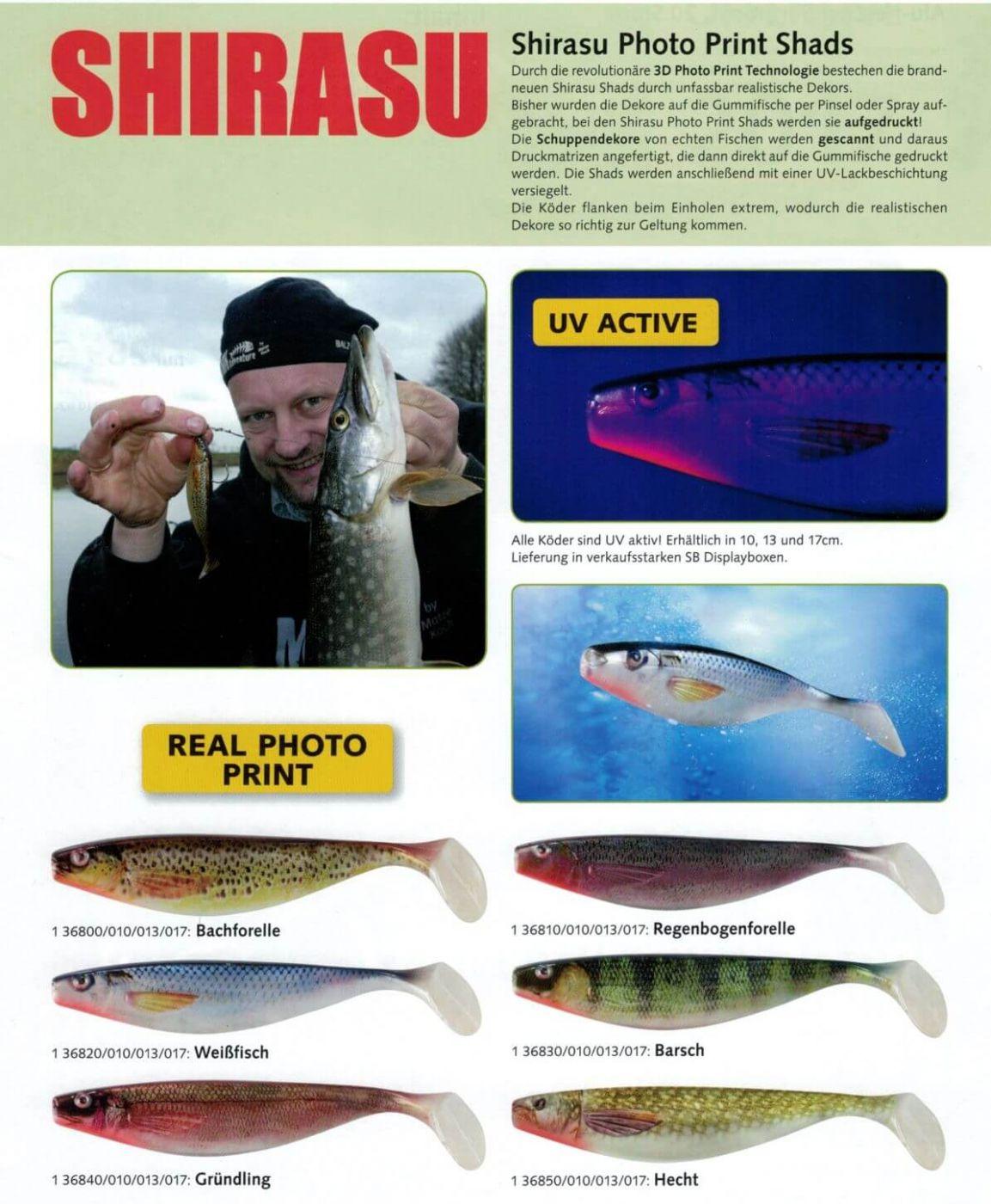 Balzer Shirasu 3D Photo Print Shad 13cm Weißfisch