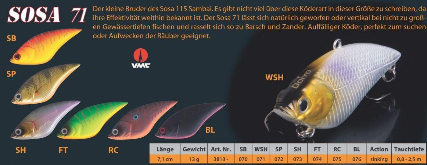 Wobbler 7,1cm WSH Sänger Iron Claw Doiyo SOSA 71