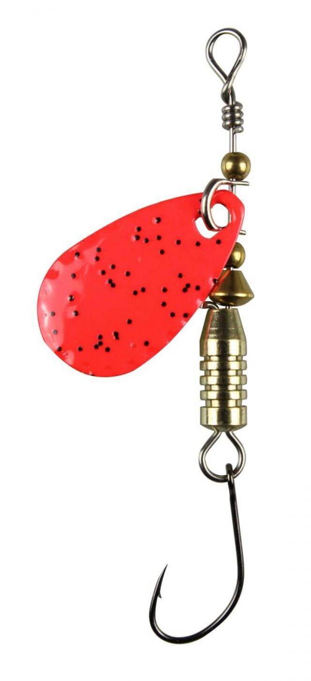 Paladin Trout Spoon IV 1,9g rot-glitter//rot-glitter mit MARUTO® Haken Spinner
