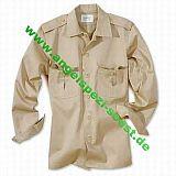 Safari Hemd, 1/1 Arm, oliv, Größe: XXL