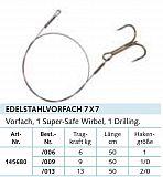 Balzer Stahlvorfach, 7x7 NIRO, 50cm -2/0
