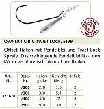Owner Haken Jig Hook w-tw #5199 #2/0