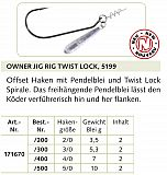 Owner Haken Jig Hook w-tw #5199 #4/0