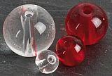 Iron Claw Round Glas Perlen ø 10mm Rot