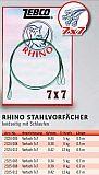 Rhino 7x7 Stahlvorfach Twin 50cm -8kg