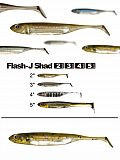 "Fish Arrow Flash J Shad 5"" - 02 Wm-Silv"