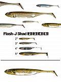 "Fish Arrow Flash J Shad 4"" - 02 WM-Silv"