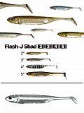 "Fish Arrow Flash J Shad 5"" - 21 Whi-Sil"