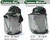 Behr Camouflage Mütze mit Moskitonetz