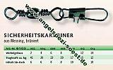 ZEBCO Wirbel Sicherheitskarabiner #-6