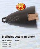 Bleifreies Lotblei mit Kork  9g Zebco