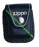 ZIPPO Lederetui mit Clip -schwarz