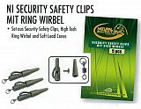 Mosella NI Carp Safety Clips mit Wirbel