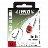 Jenzi Hair Rig mit Gummiband Größe -8