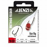 Jenzi Hair Rig mit Gummiband Größe 10
