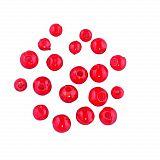 Jenzi Universal Kunststoff Perlen Rot