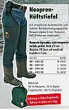 Behr Hüftstiefel 4mm Neopren Größe 44-45