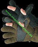 DAM Fleece Handschuhe, grün, M
