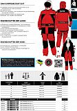 DAM Sypreme Boat-Suit Rot 2-teilig L