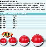 Paladin Klemm- Ballpose rot weiß 19mm