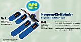 BEHR Neoprene Klettbänder Mini 2 #10,5cm