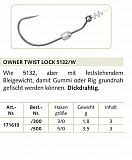 Owner Haken Twist Lock #5132 #5/0 #1.8g