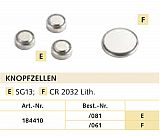 Balzer Lithium Knopfzellen LR 44 3er SB