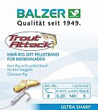 Balzer Bienenmaden Hair Rig 140cm  Gr  8