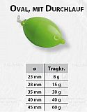 Buldo Wasserkugel -oval #15g S-Grün