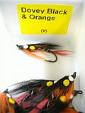 Dragon Fliege, Dovey Black - Orange 06