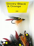 Dragon Fliege, Dovey Black - Orange 08