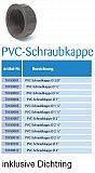"""PVC Schraubkappe Gewinde 1½"""""""