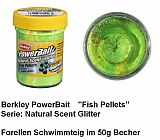 Powerbait Natural Fish Pellet Green Yell