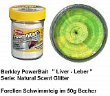 Powerbait Natural Liver Fluo Green Yello