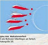 Zebco Makrelenvorfach 4 Haken 3/0 ro.Col