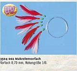 Zebco Makrelenvorfach 5 Haken 1/0 rot