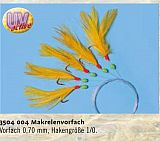 Zebco Makrelenvorfach 5 Haken 1/0 gelb